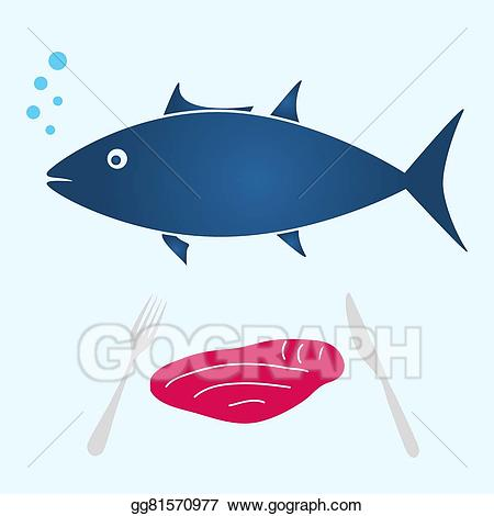 Tuna clipart fish meat. Vector art big and