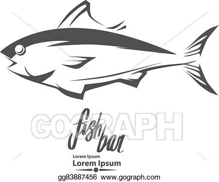 Tuna clipart fish protein. Vector art logo eps