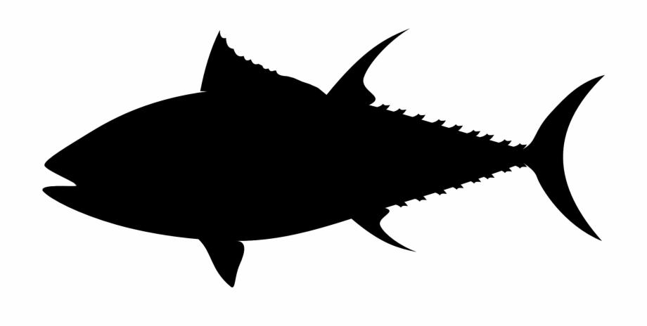 Tuna clipart fishr. Fish silhouette black png