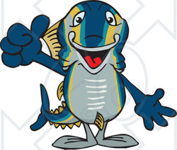 Of a fish holding. Tuna clipart happy