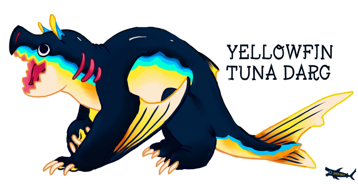 Yellowfin darg by canned. Tuna clipart sardine fish