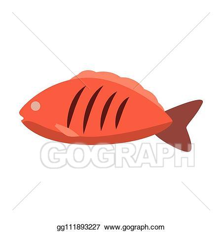 Tuna clipart sea foods. Eps illustration food icon
