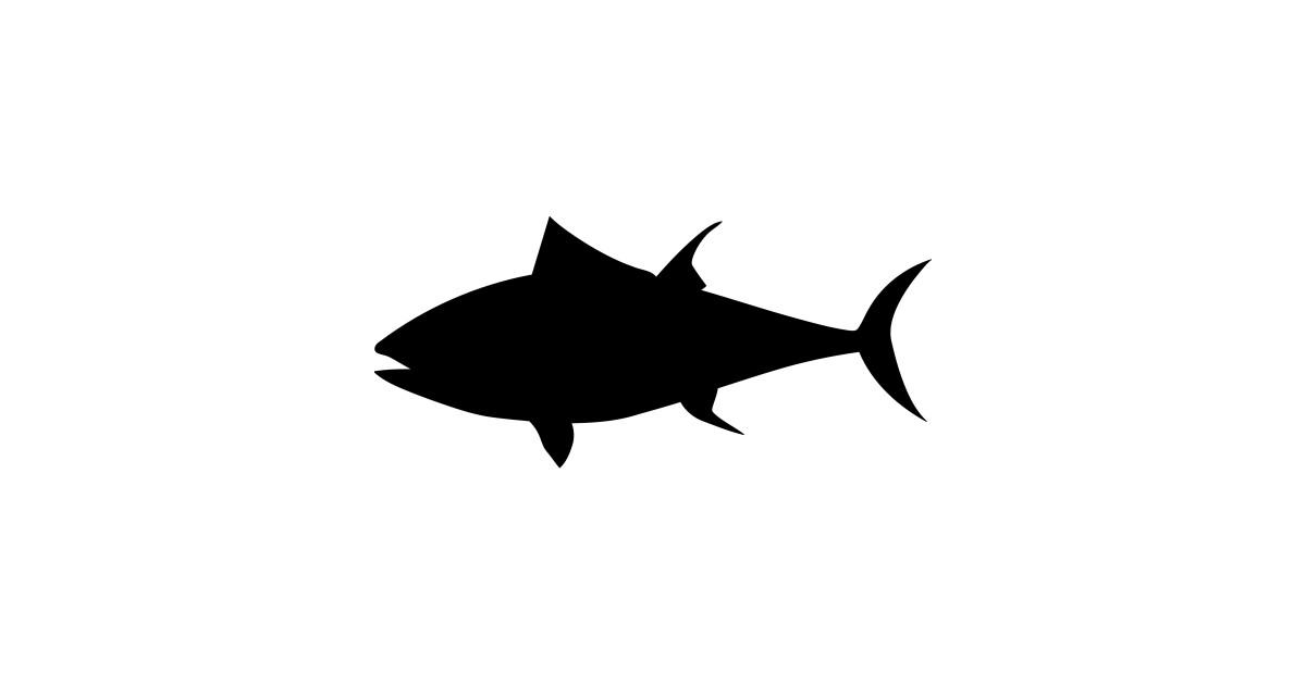 Fish silhouette by australianmate. Tuna clipart sea foods