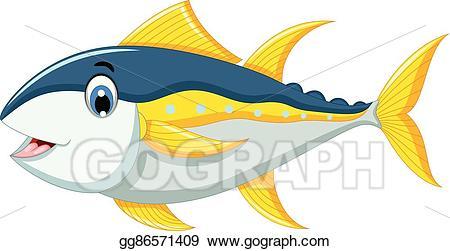 Tuna clipart tuna fish. Vector illustration cartoon for