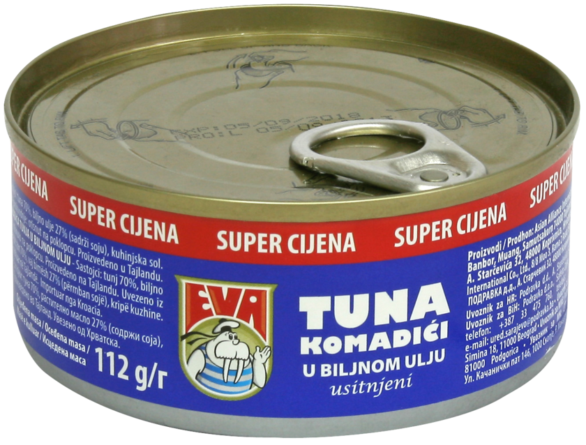 Brand eva podravka chunks. Tuna clipart tuna food