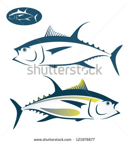 Fish illustration stock . Tuna clipart vector