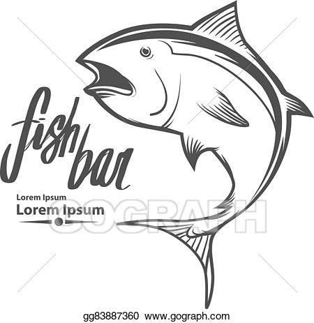 Fishing logo illustration . Tuna clipart vector