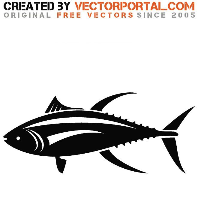 Graphics animal vectors free. Tuna clipart vector