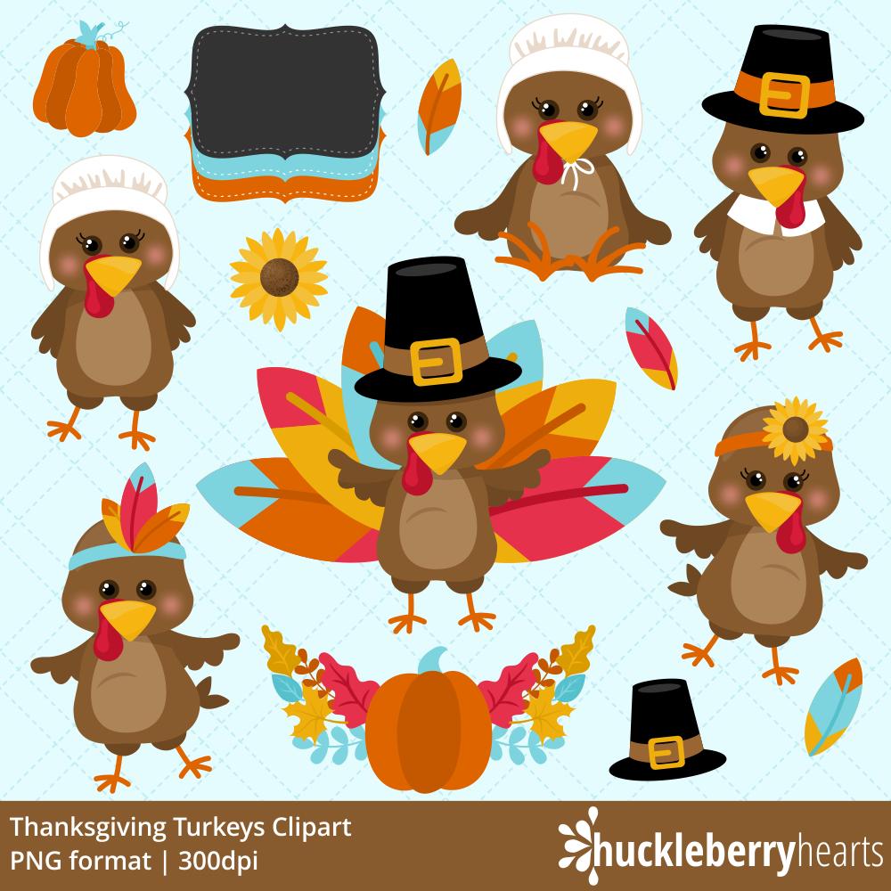 Turkeys clipart. Thanksgiving huckleberry hearts