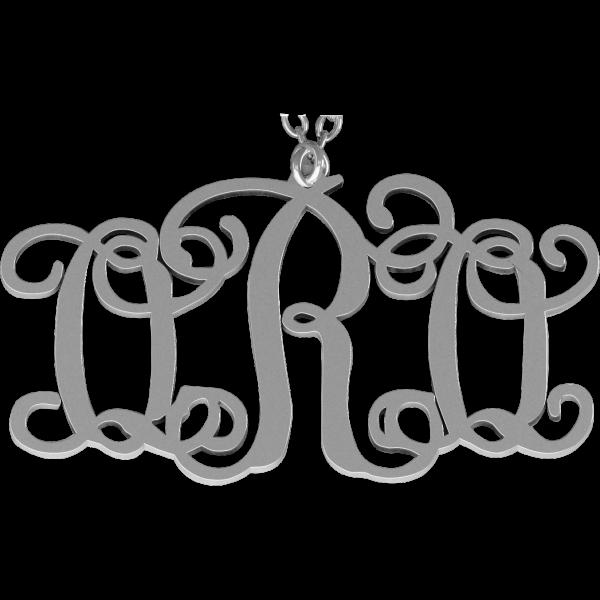 Personalized necklace jewelry orosilber. Turkeys clipart monogram