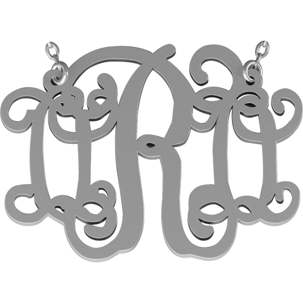 Turkeys clipart monogram. Personalized necklace jewelry orosilber