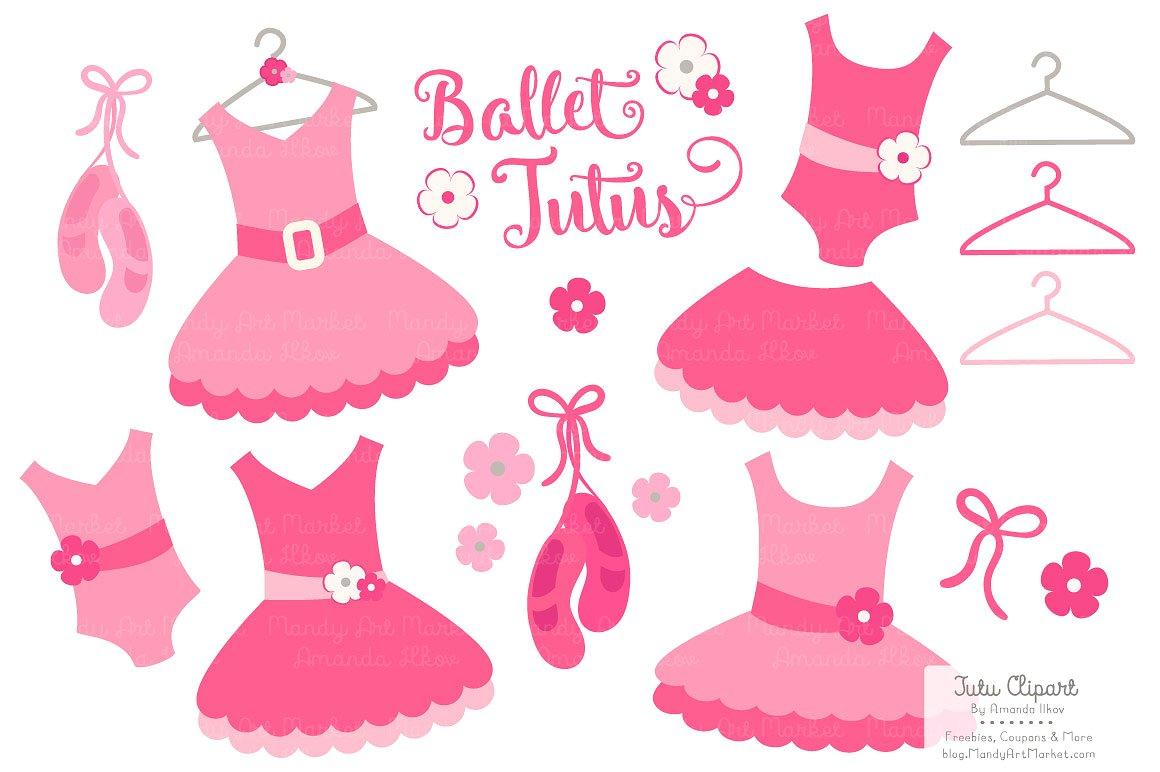Hot pink ballet tutus. Tutu clipart