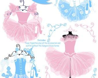 Tutu clipart. Etsy ballet ballerina clip