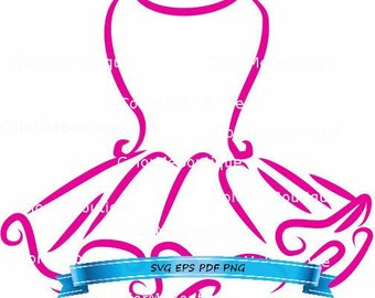 Tutu clipart. Etsy pink