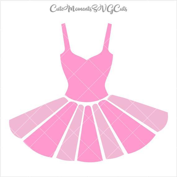 Ballet ballerina dress cut. Tutu clipart file