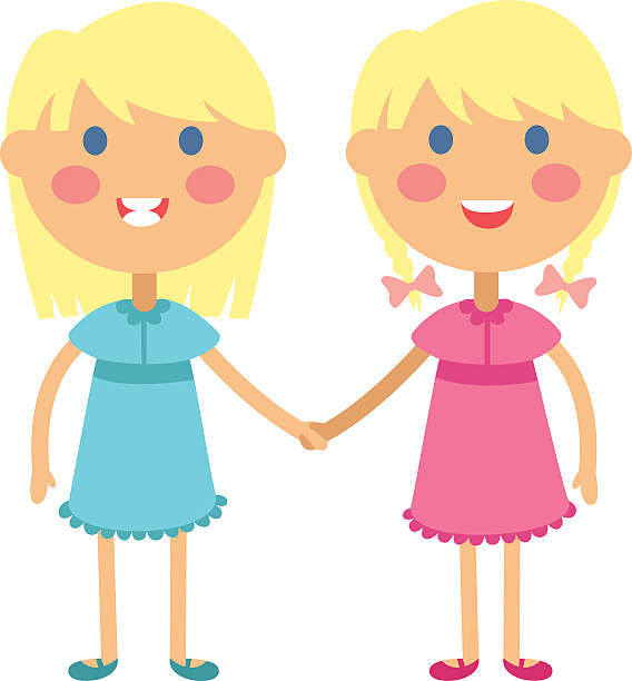 collection of twin. Twins clipart