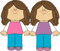Twin clip art free. Twins clipart