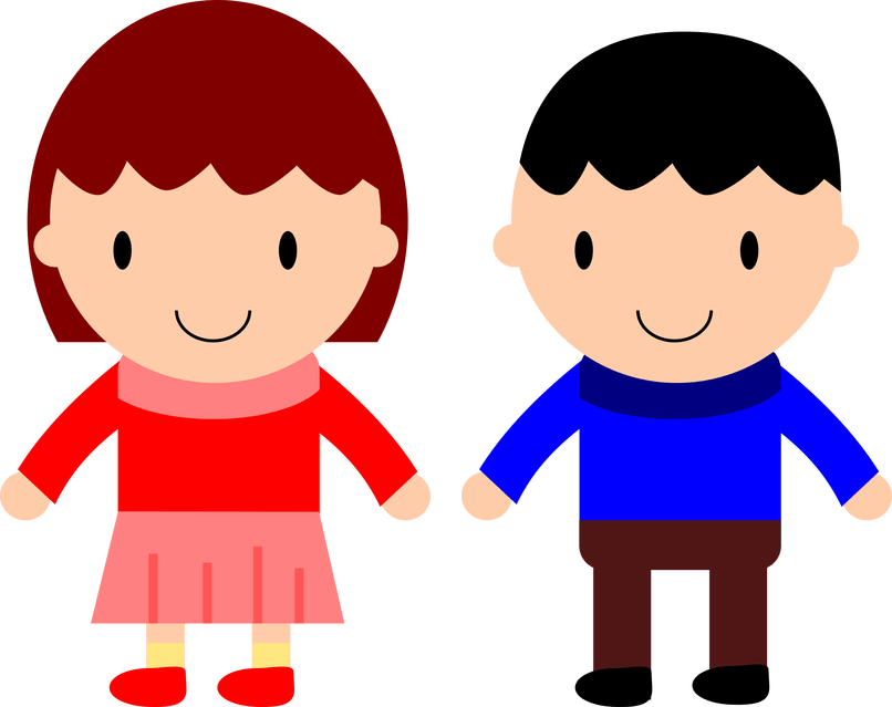 Image for boy and. Twins clipart girl painting