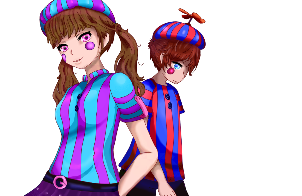 Twins clipart girl painting. Fnaf balloon boy and