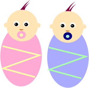 Twins clipart twin baby. Boy girl babies clip