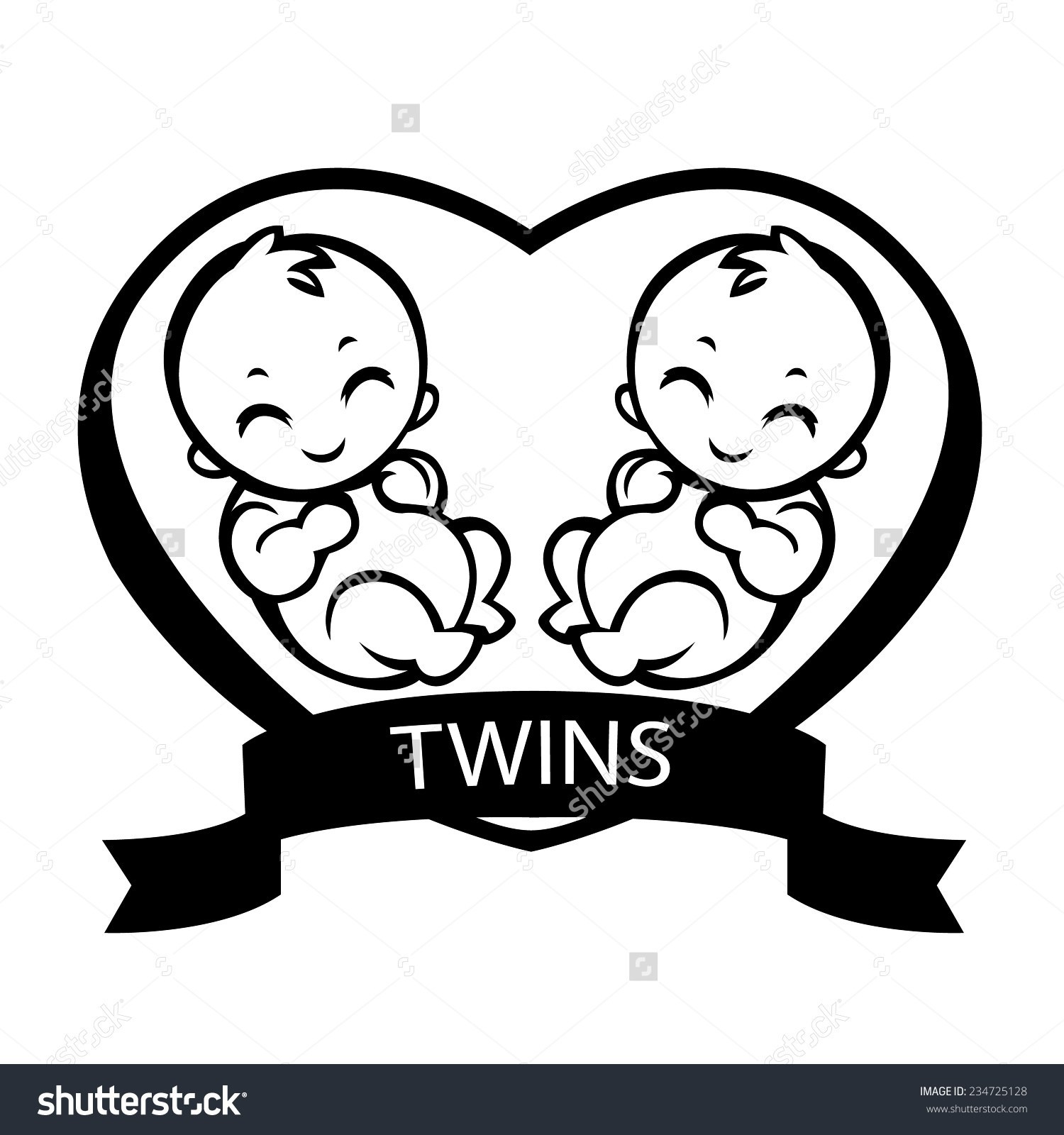 Feet clip art to. Twins clipart twin baby
