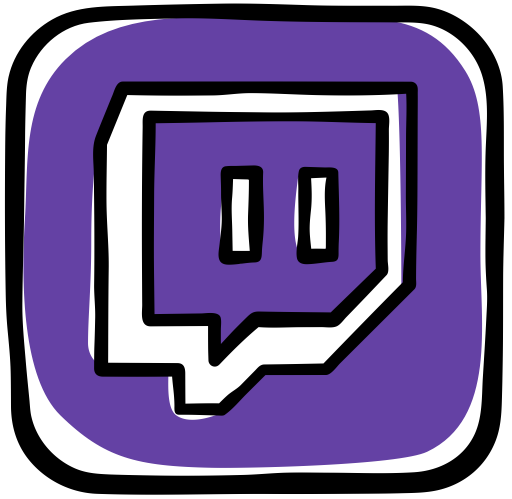 Twitch icon png. Colorful guache social media