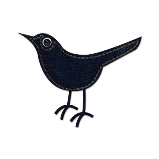 Blue jeans social media. Twitter bird icon png