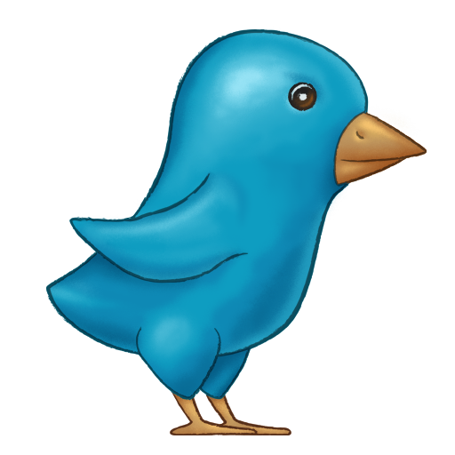 Painted icon x px. Twitter bird png transparent