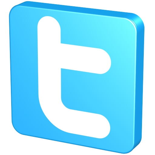 Twitter button png. Free d social icons