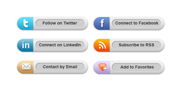 Twitter buttons png. Classy social media psd
