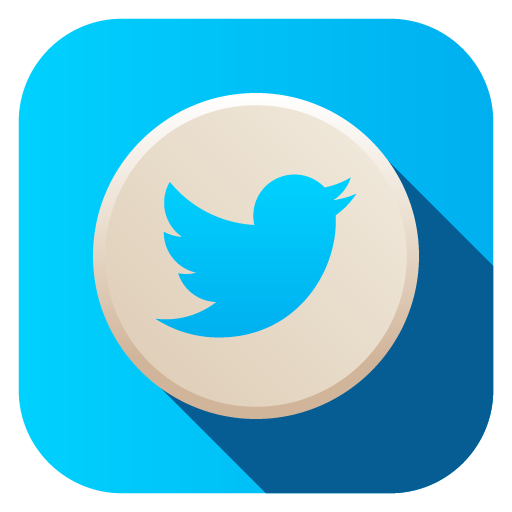 Advanced flat social icons. Twitter circle icon png