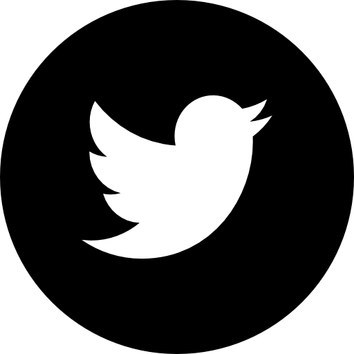 Logo in circular black. Twitter facebook png