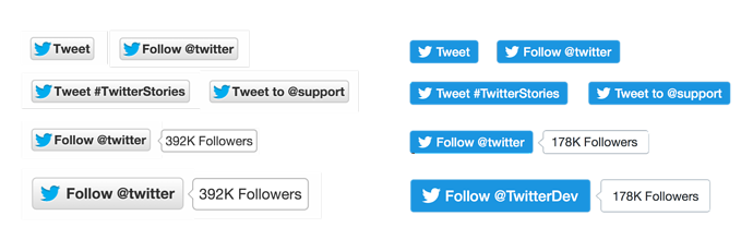 Twitter follow button png. A new design for