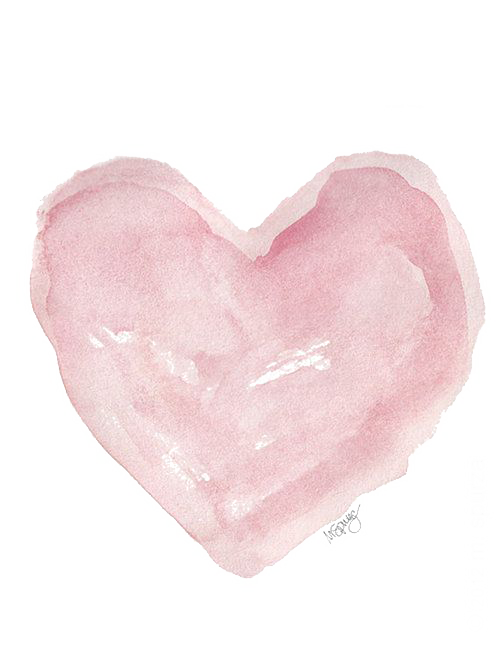 Watercolor painting illustration transprent. Twitter heart png