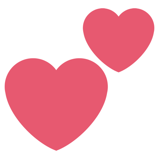 Two hearts emoji for. Twitter heart png