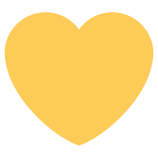 Yellow logos list of. Twitter heart png