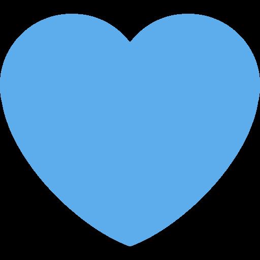 Twitter heart png.  twemoji