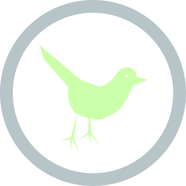 Twitter icon circle png. Clip art at clker