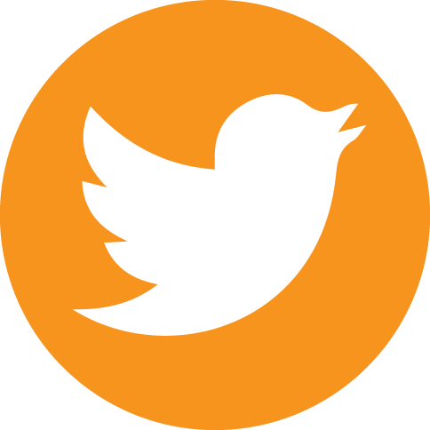 Twitter icon circle png. Orange social icons by
