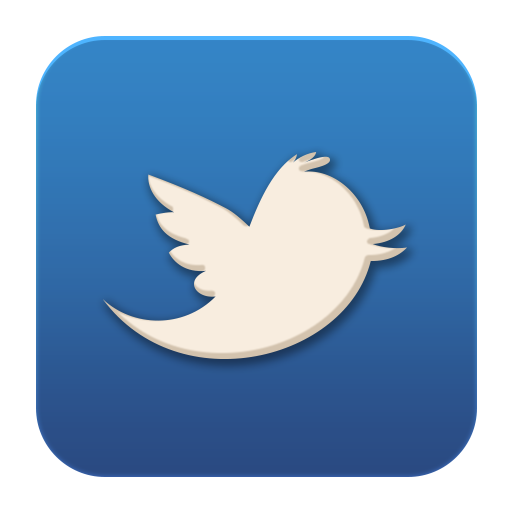 Old flat social media. Twitter icon png