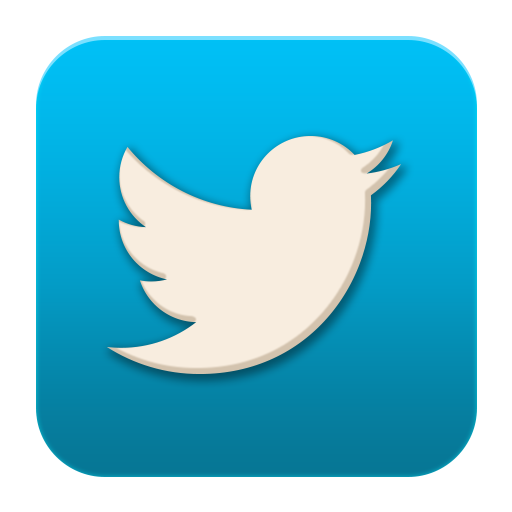 Flat social media icons. Twitter icon png black