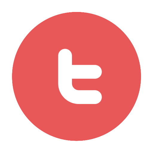 Red website beauty by. Twitter icon png circle