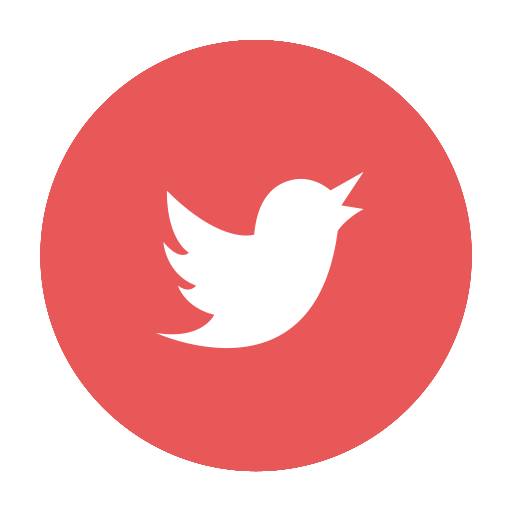 Twitter icon png circle. Red website beauty by