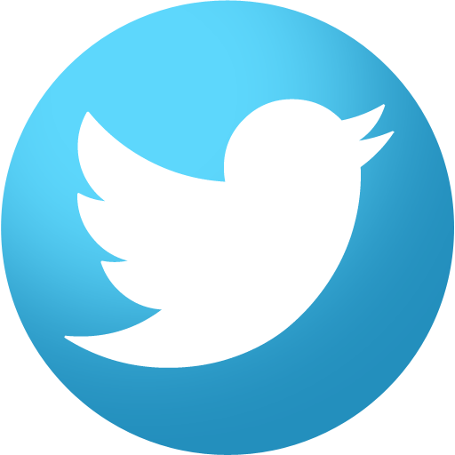 Inficons round brand set. Twitter icons png