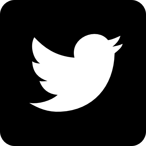 On black background icon. Twitter logo png