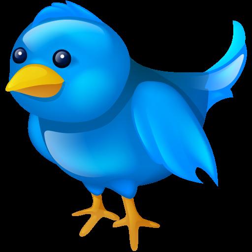 Twitter logo png. Social bird media tweet