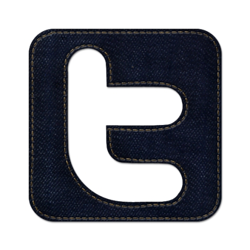 Twitter png icons. Square icon blue jeans