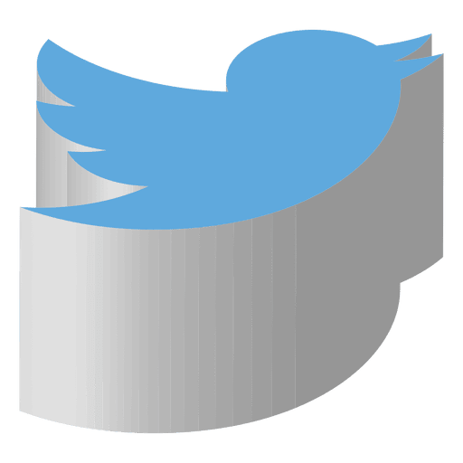 Isometric icon transparent svg. Twitter vector png