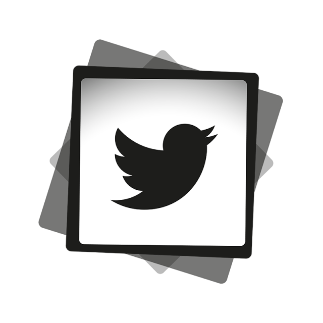 Black white icon social. Twitter vector png