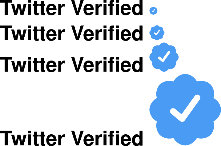 Symbols creating the badge. Twitter verified png